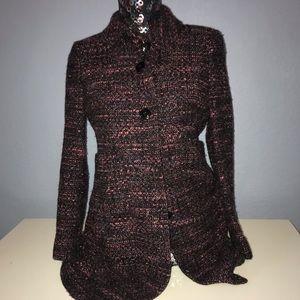 ❤️❤️❤️Jones New York tweed blazer career petite